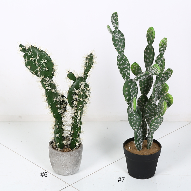 Cactus suculentas artificial succulents unpotted Decorative Plants In Pots For Home Decor