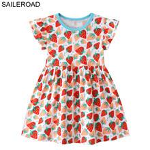 SAILEROAD/платье с карманами для девочек одежда принцессы для детей от 2 до 7 лет Платья с отложным воротником Летние Детские платья(Китай)