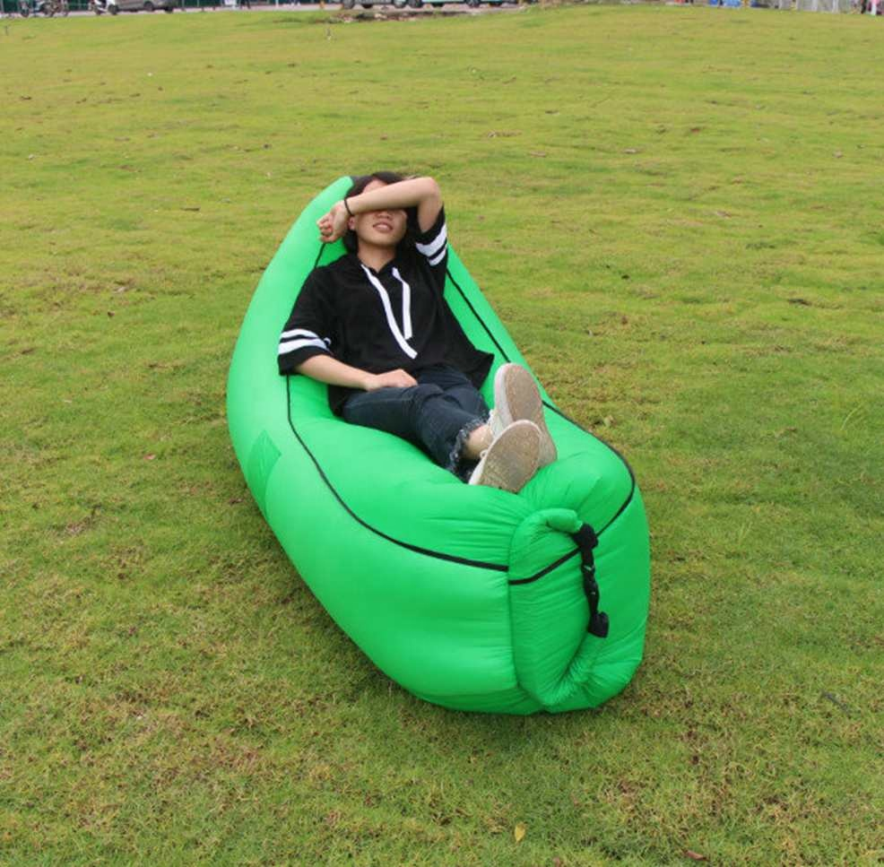 New design camping nylon Inflatable outdoor sofa chair beach Air Filling Waterproof Lazy Sofa