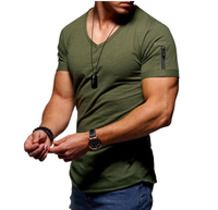 Men Tops Tees Running Shirts Mens Gym T Shirt Sports Fitness Quick Dry Fit Running T Shirt