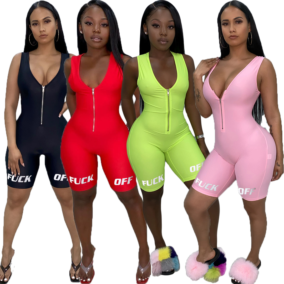 2020 New Fashion Casual Women Clothing Short Sleeve <strong>V</strong> Neck Wrap Front Jumpsuit