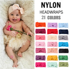 Wholesale Baby Hair Accessories Soft Stretchy Nylon Turban Headbands Knot Custom Baby Bow Headband