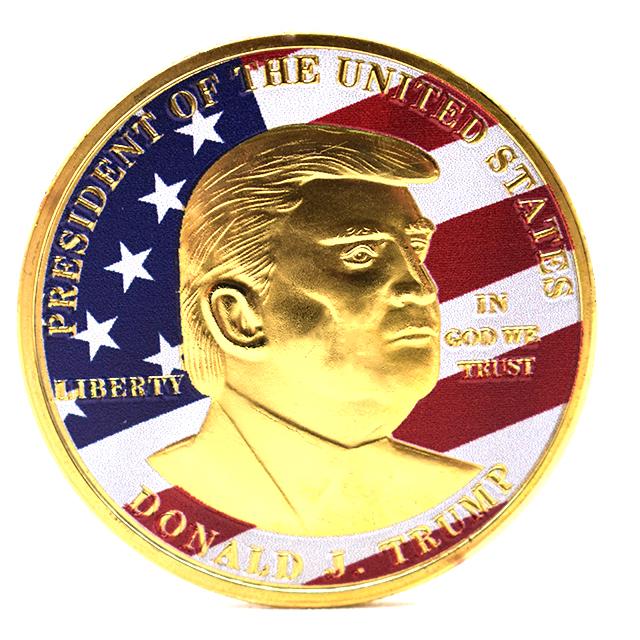 Commemorative Tribute USA President Gold Donald Trump Coins for 2020 America Campaign