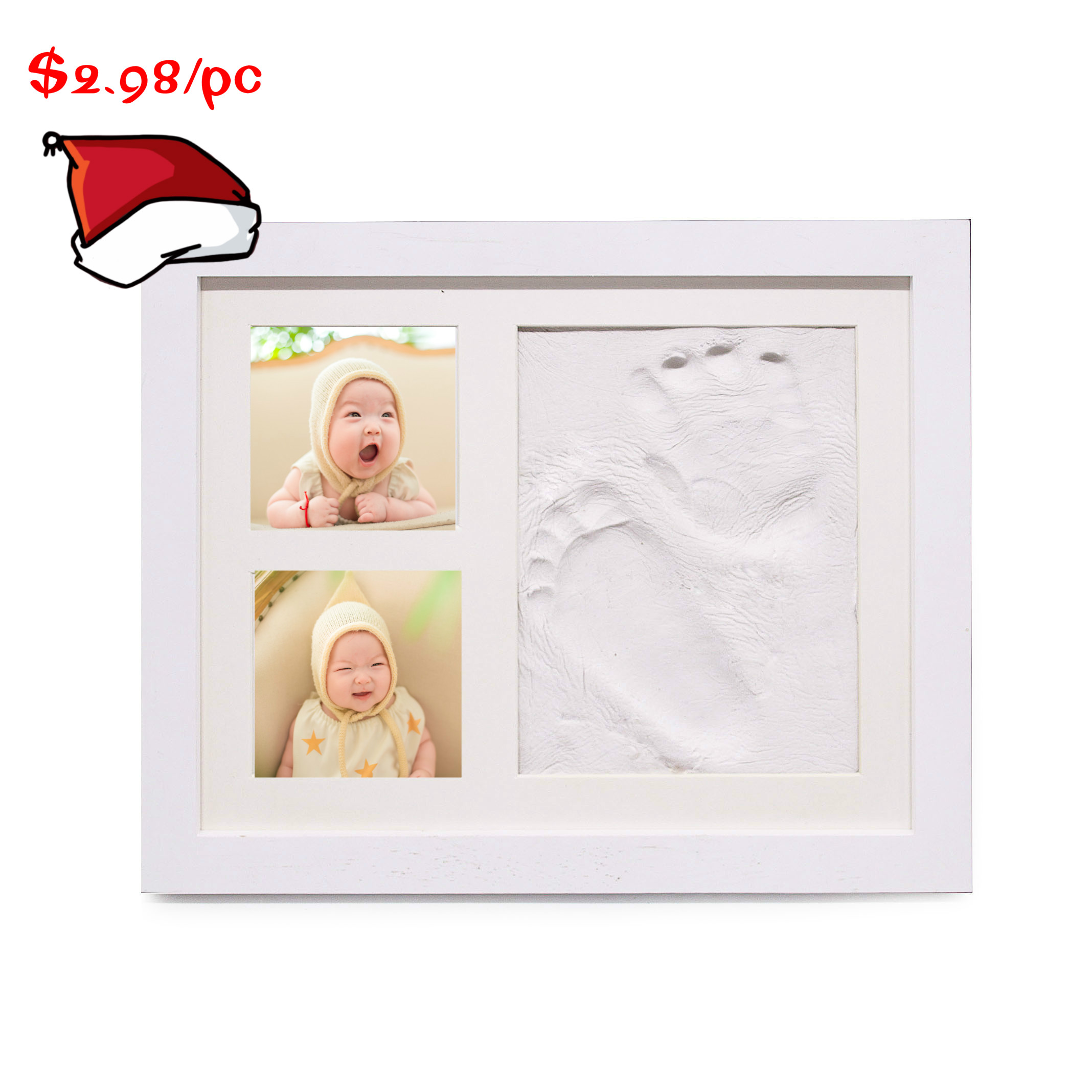 Amazon BABY HAND & FOOTPRINT PICTURE FRAME KIT for Boys and Girls