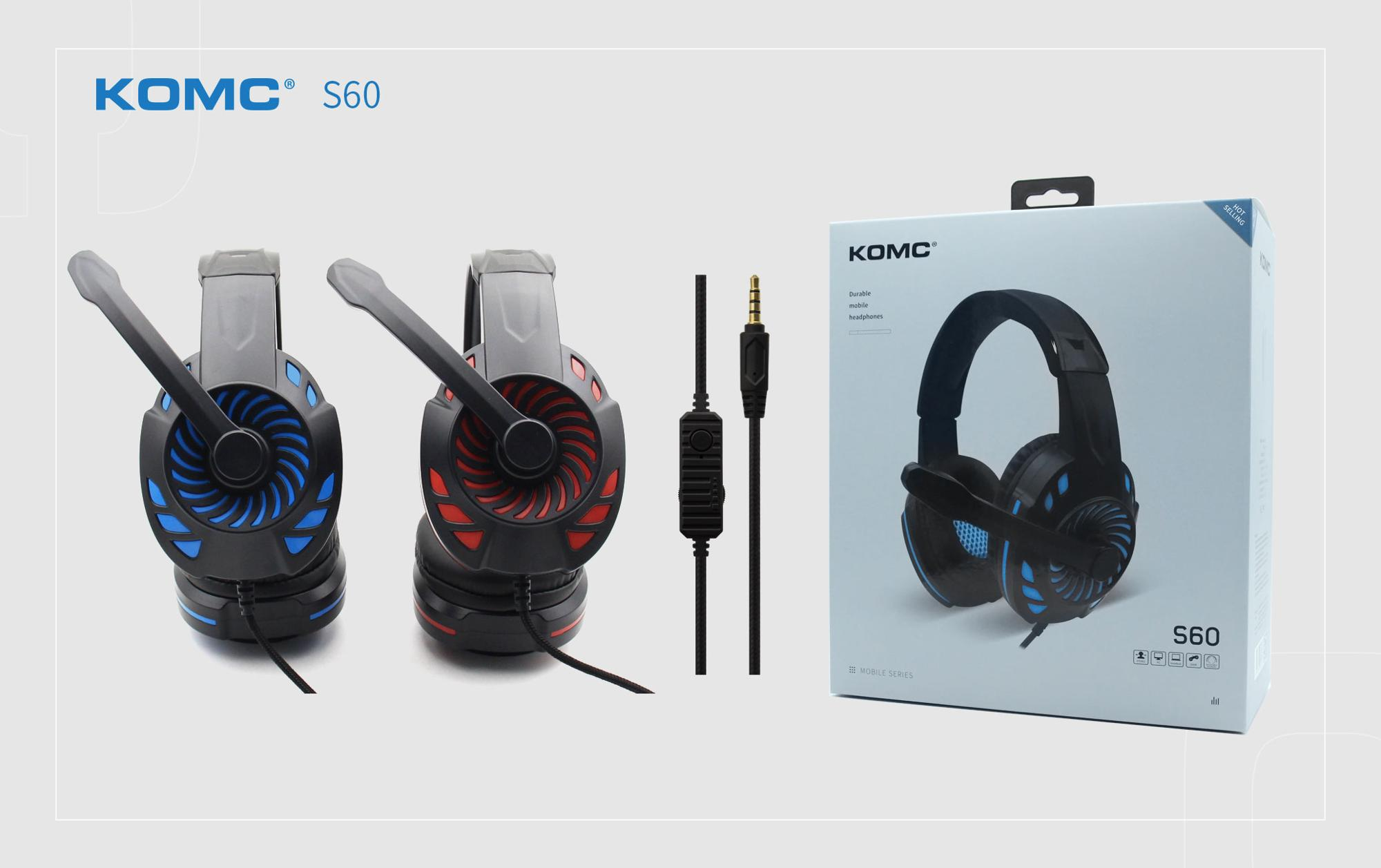 Stereo Gaming Headset for PS4, PC, Noise Cancelling Over Ear Headphones with Mic, LED Light, Bass Surround, Soft Memory Earmuffs