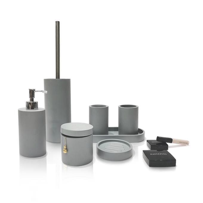 Suanti oem china polystone gadgets bath sets luxury bathroom accessories