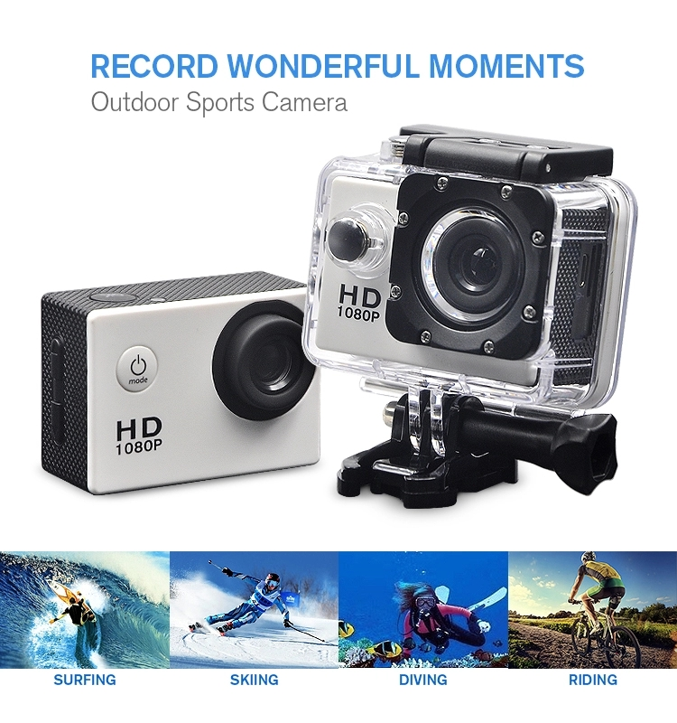 Best Action Sports Cameras Full HD 1080P Waterproof 2 Inch LCD Diving Action Camera