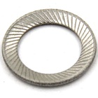 304 stainless steel double tooth washer/flat washer DIN9250