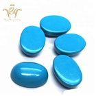 Synthetic turquoise cabochons oval loose gemstone