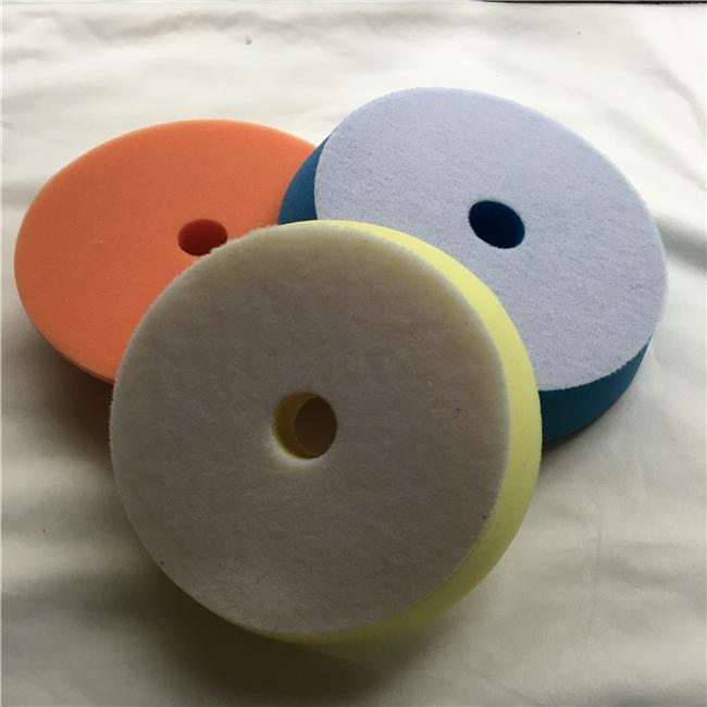 5 inch Foam Sponge Pads yellow Polish Applicator Pad