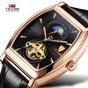 TEVISE Watch 8383D Custom Luxurious Tourbillon Moon Phase Watches Men Automatic Mechanical Watch