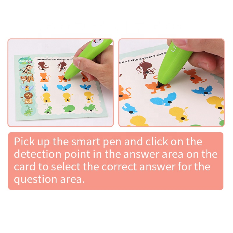 Kids Smart Talking Pen Learning Machine Juguetes With Cards