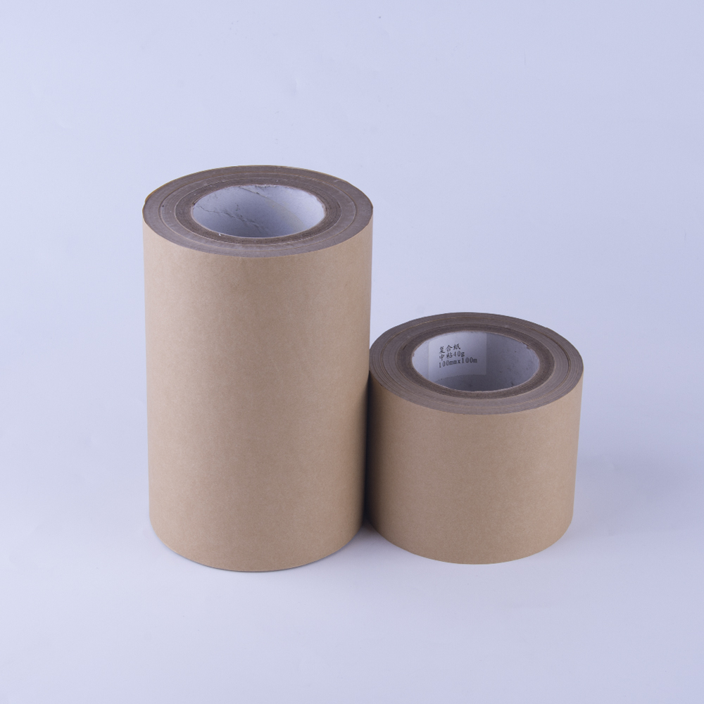Guangdong 40g Brown Kraft Painting Adhesive Surface Masking Protective Film Paper Roll For Acrylic Sheets
