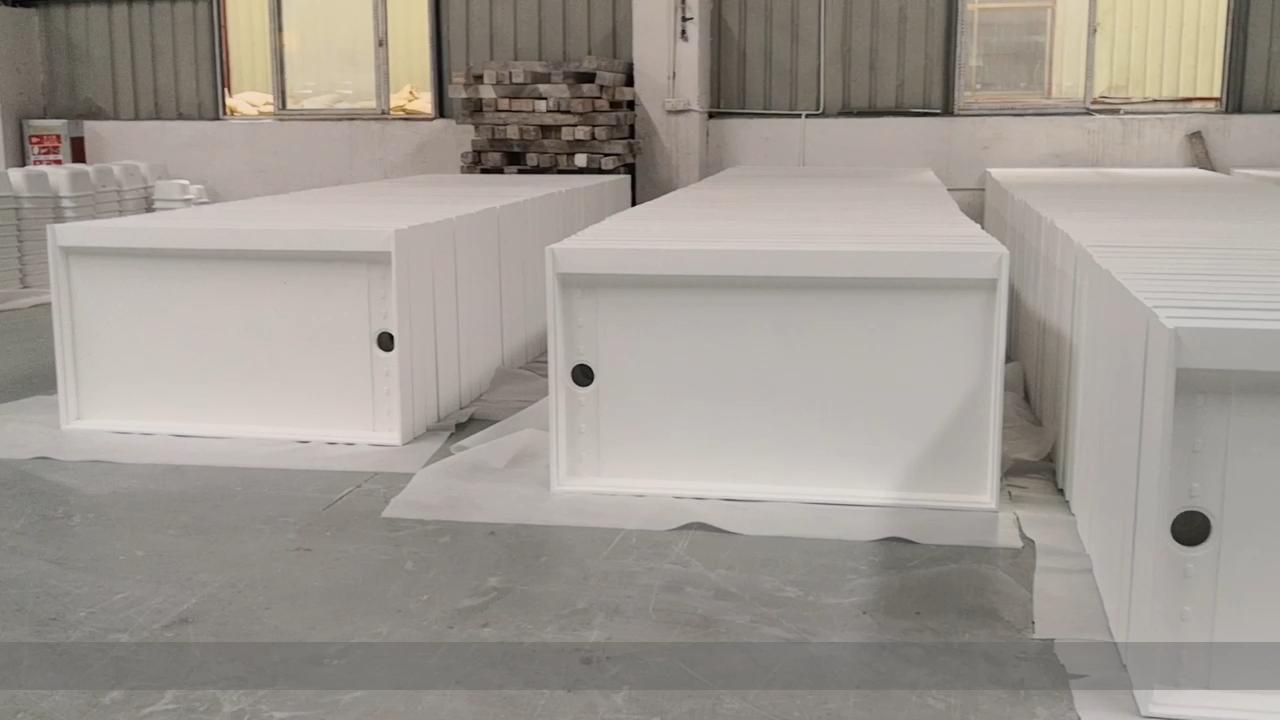 Piedra de acrílico superficie sólida piedra artificial ducha en el cuarto de baño bandeja