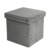 15'  Corduroy Stripe Foldable Storage Ottoman  foldable Stool