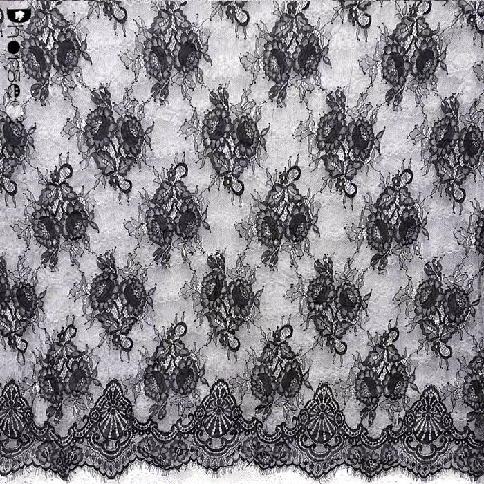 Latest French Chantilly Lace Fabric For Bridal
