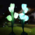 Solar Powered Tulip Flower Lights Artificial Fabricl Flower Light for Garden Back Yard Patio Christmas Decoration