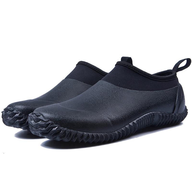 Sapatos de chuva neoprene calçados masculinos para lavagem de carros unissex botas de jardim à prova dunisex água