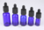 5ml 10ml 15ml 20ml 30ml 50ml 100ml cosmetic bottle essential oil blue glass dropper bottles Olive oil bottle