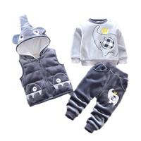 Winter Baby Kids Sets 3 PC Children Boys Coats Clothing Thick Warm Clothes