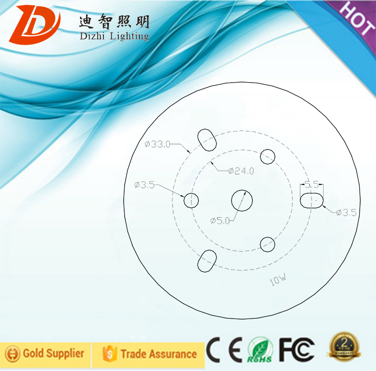 10w dimmable  LED 220v ac led chip dob pcb  driverless for led ceiling lights