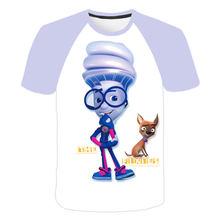 Новинка 2020 года; Детская одежда футболка с рисунком «Fixies»; Костюм для девочек и мальчиков; Топы с рисунками; Одежда футболка для малышей Повс...(Китай)