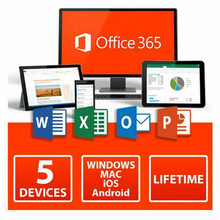 5 gli utenti di Microsoft Office 365 Pro Plus Licenza Chiave Per Windows Mac IOS Android Conto Password Chiave Del Prodotto di download