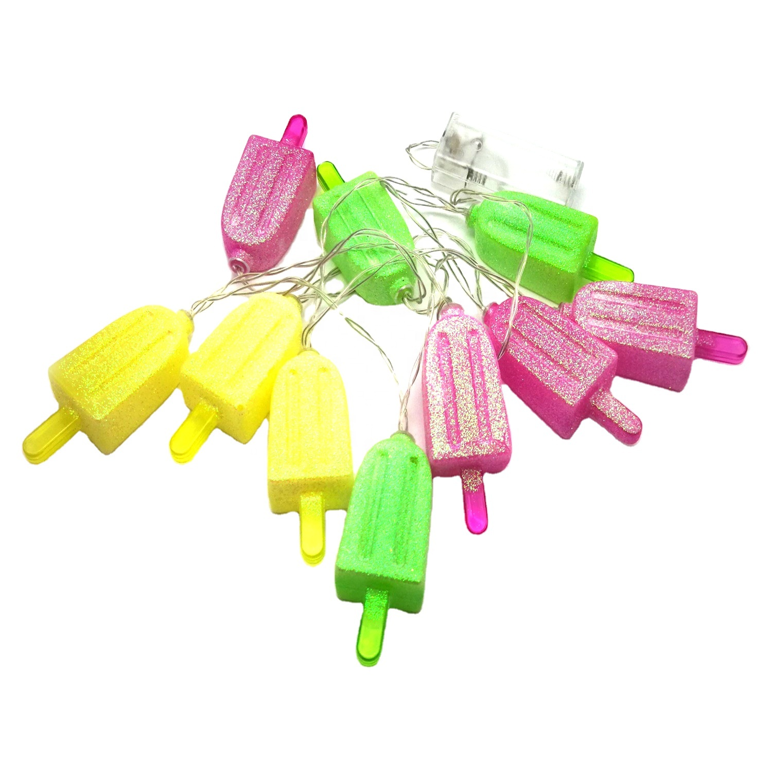 Nice Design LED Ice Sucker Garland Fairy Pendant String Light for Home Decoration Party Decoration