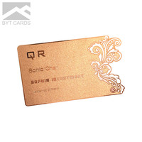 Personality Color Rose Gold High Tech Die Cut Mirror Metal Creative Business Card Printing With metal card blan