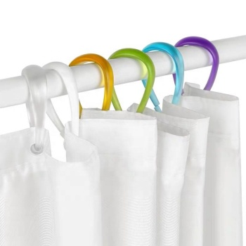 Plastic Shower Bath Curtain Hooks