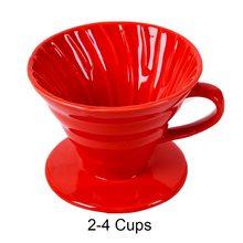 Керамическая капельница для кофе V60, стильный капельный фильтр для кофе, чашка для перманентного засыпания, кофеварка для заварки, отдельна...(Китай)