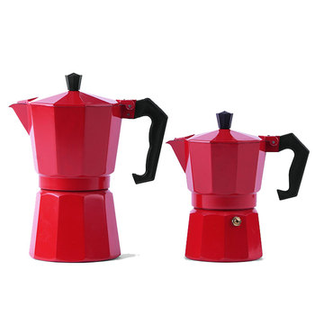 Customize logo aluminium percolator pot espresso moka coffee maker
