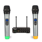 Fifine Dual Microphone Wireless KTV Karaoke Microphone for Home Party