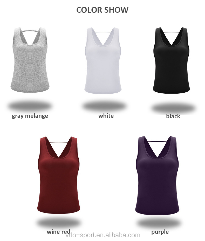 Sex Appeal Soft Comfortable Yoga Wear Cross Back Running Yoga Vest Fitness Stringer  Gym Tank Tops for Women