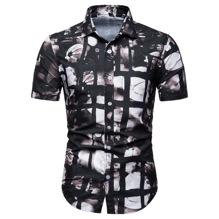 Plus récent Impression Numérique Hawaienne Homme Chemise Personnalisé Imprimé Décontracté Bouton Vers Le Bas Des Chemises Pour Hommes