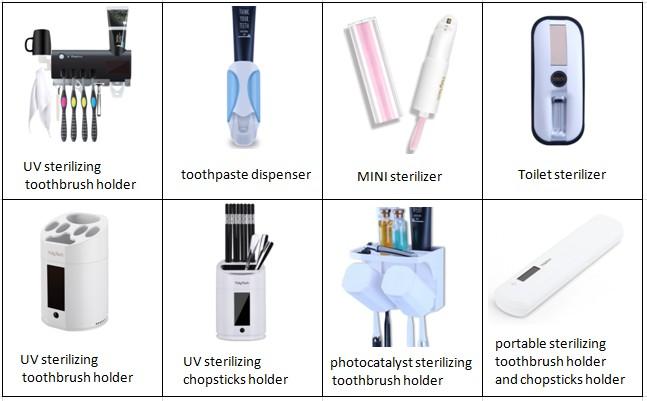 Puretta 浴室付属品自動歯磨き粉ディスペンサー歯ブラシ消毒