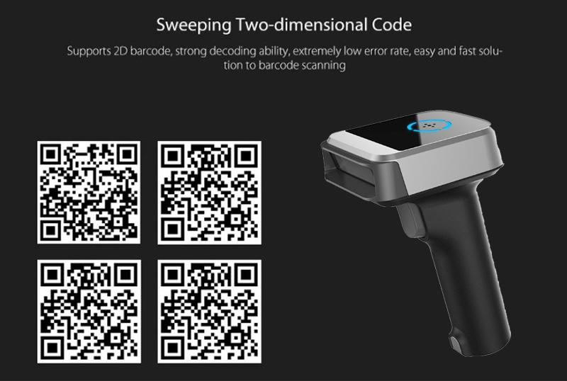 Fabrikant Waterdichte Lange Afstand Draadloze 2d Handheld Barcode Scanner Voor Betaling