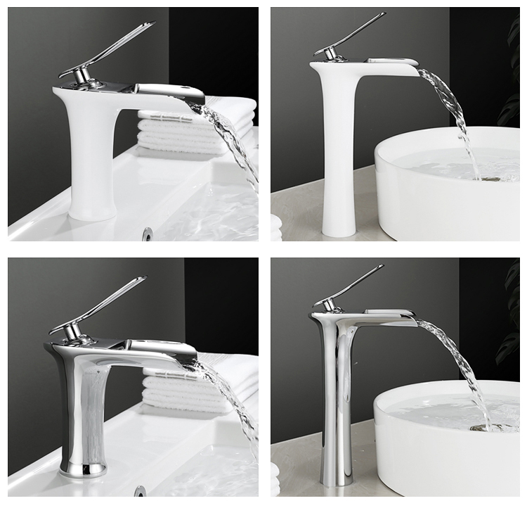 European Style Sanitary Ware Supply Waterfall design brass wash basin faucet