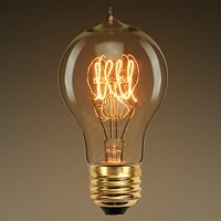 Vintage Edison Bulb, Dimmable 40W A19, Antique Bulb Squirrel Globe Filament Light for Decorate Home,E27,2700K,Warm White