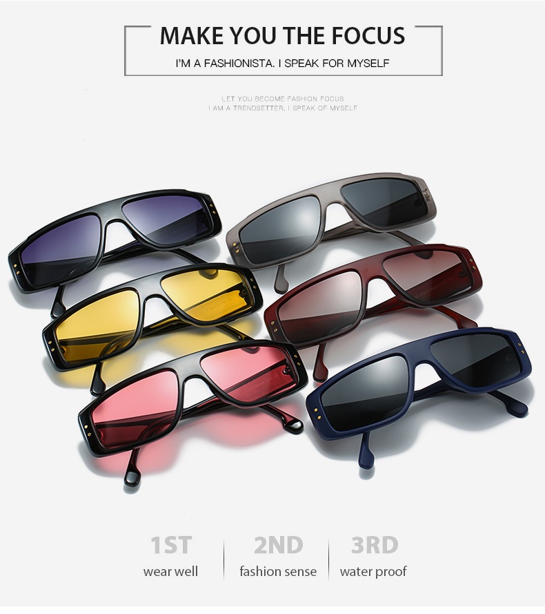 THREE HIPPOS Sun Glasses Unique Metal Shield Custom Logo Elegance Shades Unisex Novelty 2020 New Arrivals Small Shades Sunglasses
