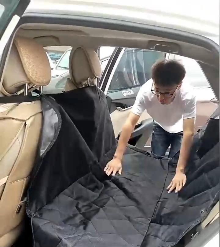Waterdichte Antislip Anti-Kras Pet Dog Car Seat Cover Voor Achterbank Met Mesh Window Side Flappen en Opslag Zakken