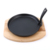 Cast Iron sizzling plate with vegetable oil coating
