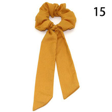 Женские резинки для волос, богемные резинки в горошек с цветочным принтом и бантом, эластичная резинка для волос, аксессуары для волос, 2019(Китай)