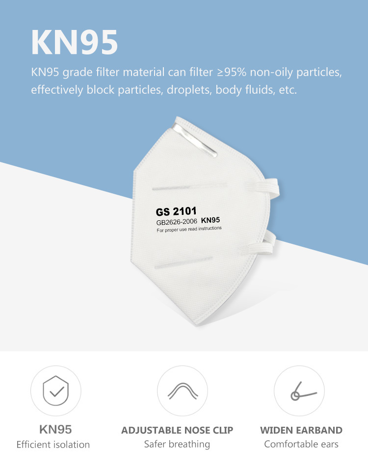 kn95 anti pollution and haze breathing valve mask non-woven dust mask factory