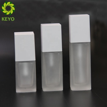 Facial serum 30ml 20ml 15ml  frosted glass lotion white pump foundation liquid bottle