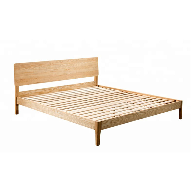 Popular New Design Modern Twin Queen King Size Ash Solid Wood Bed
