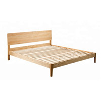 Popular New design modern twin queen king size ash solid wood bed frame