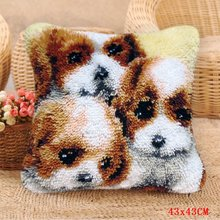 Foamiran набор крючков для ковров и собак, Набор для вышивания подушек Smyrna, посылка с кнопками(Китай)