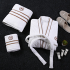 Terry Hotel Bathrobe Terry Hotel Terry Bathrobe 100% Cotton Terry Robe Custom Embroidery Hotel Quality Bathrobe For Men