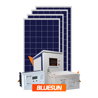 400w 500w 1kw 2500w off grid backup power solar system with battery